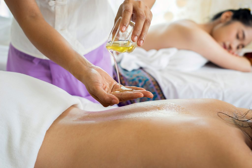 Picture of a person getting a massage for lower back pain